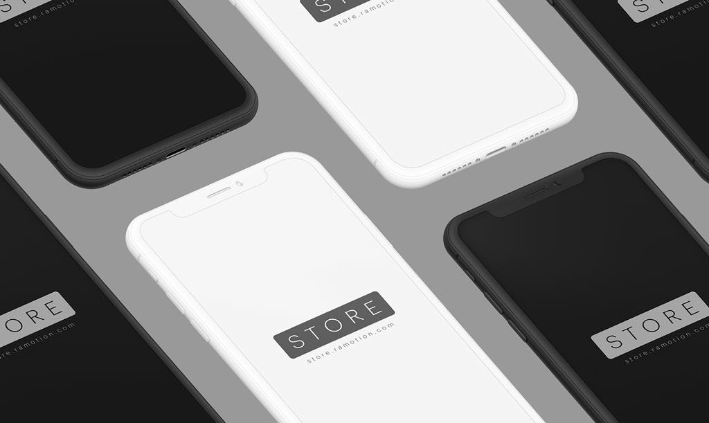 freeui.design_iphone-x-clay-black-white-isometric-psd