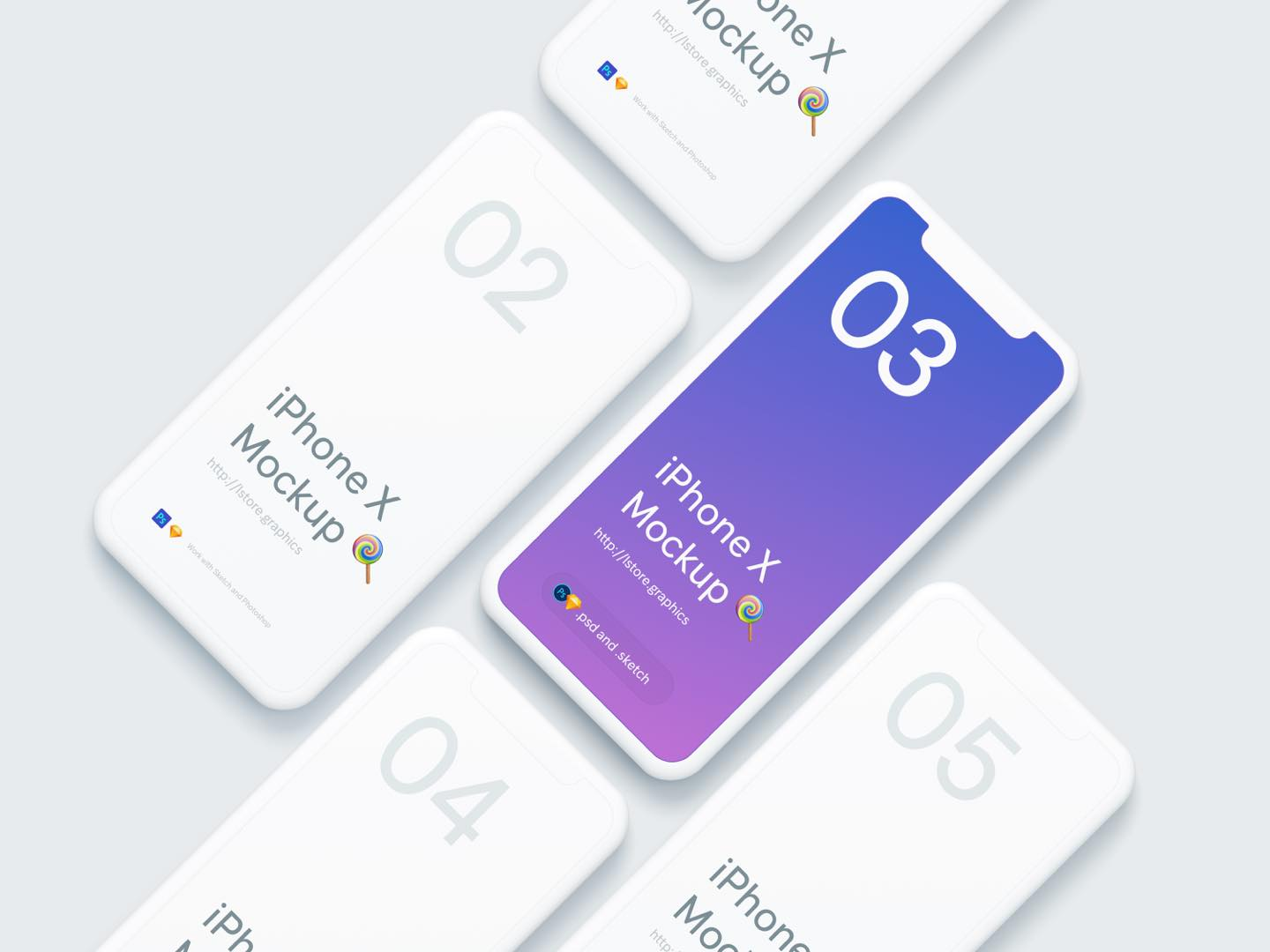iPhone X Mockup - FreeUI.Design